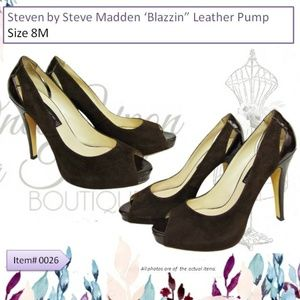 Steve Madden Blazzin Brown Leather Pump Size 8M